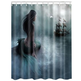 "Vinyl Shower Curtain with Hooks Beauty 71"" x 71"""