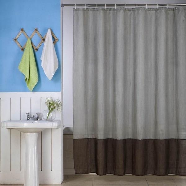 Shop Solid Vinyl Shower Curtain Silver Brown 72 X