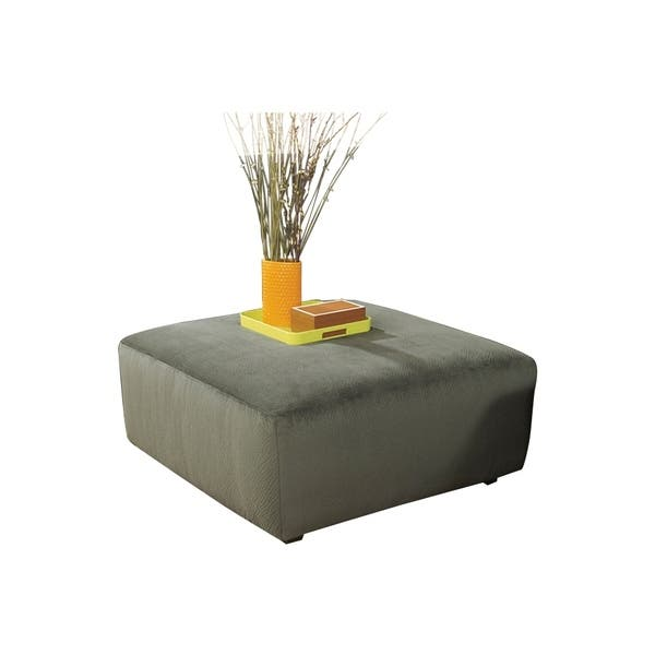 Admirable Offex Signature Design By Ashley Jessa Place Oversized Ottoman In Pewter Fabric Alphanode Cool Chair Designs And Ideas Alphanodeonline
