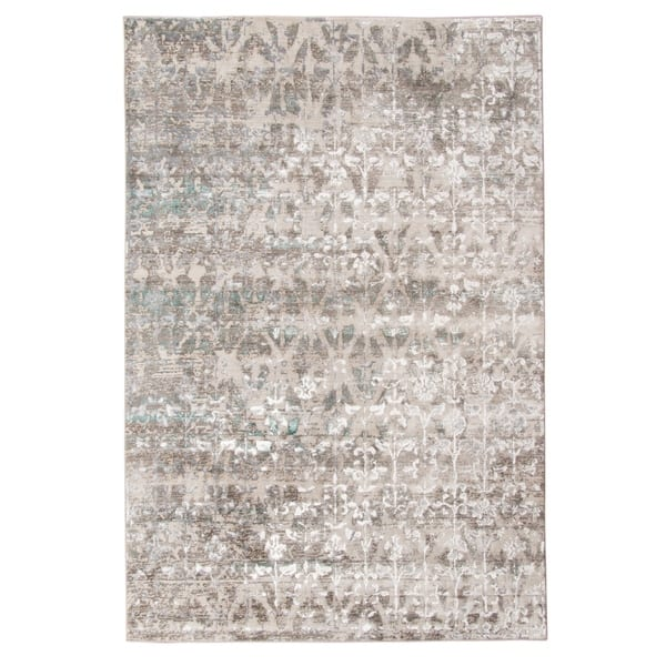 Aqua Metallic Geometric Area Rug