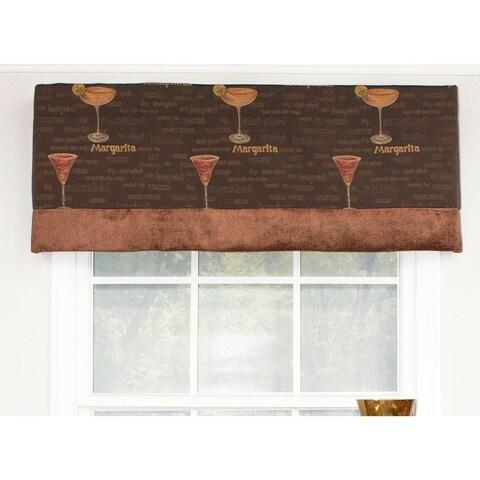 RLF Home Margarita Banded Straight Window Valance