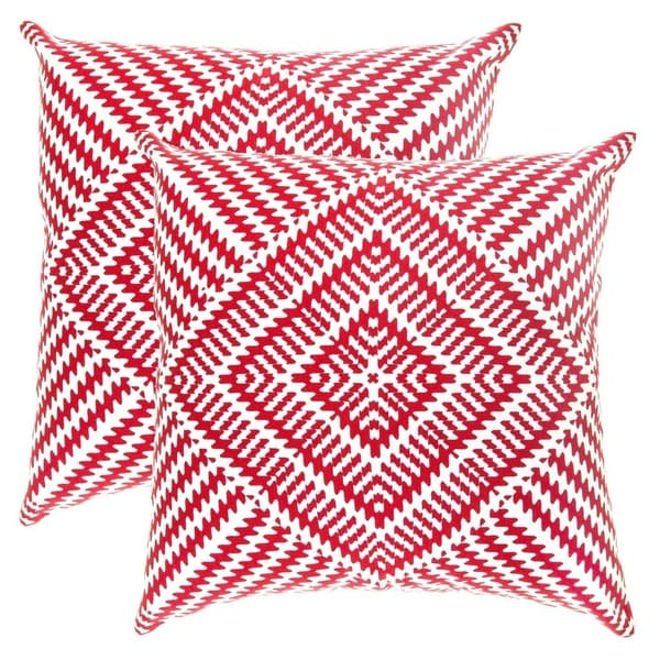Throw Pillow Covers Kaleidoscope Accent Decorative Pillowcases Red