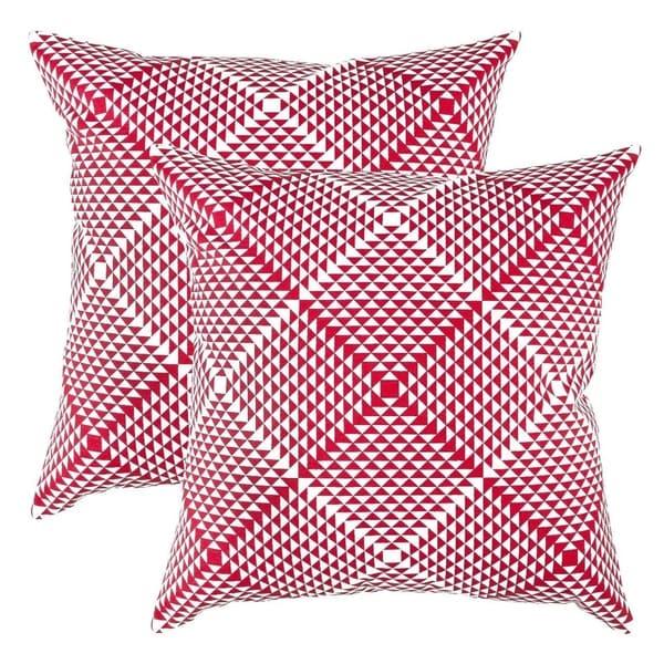 Prismatic Accent Decorative Pillowcases Red