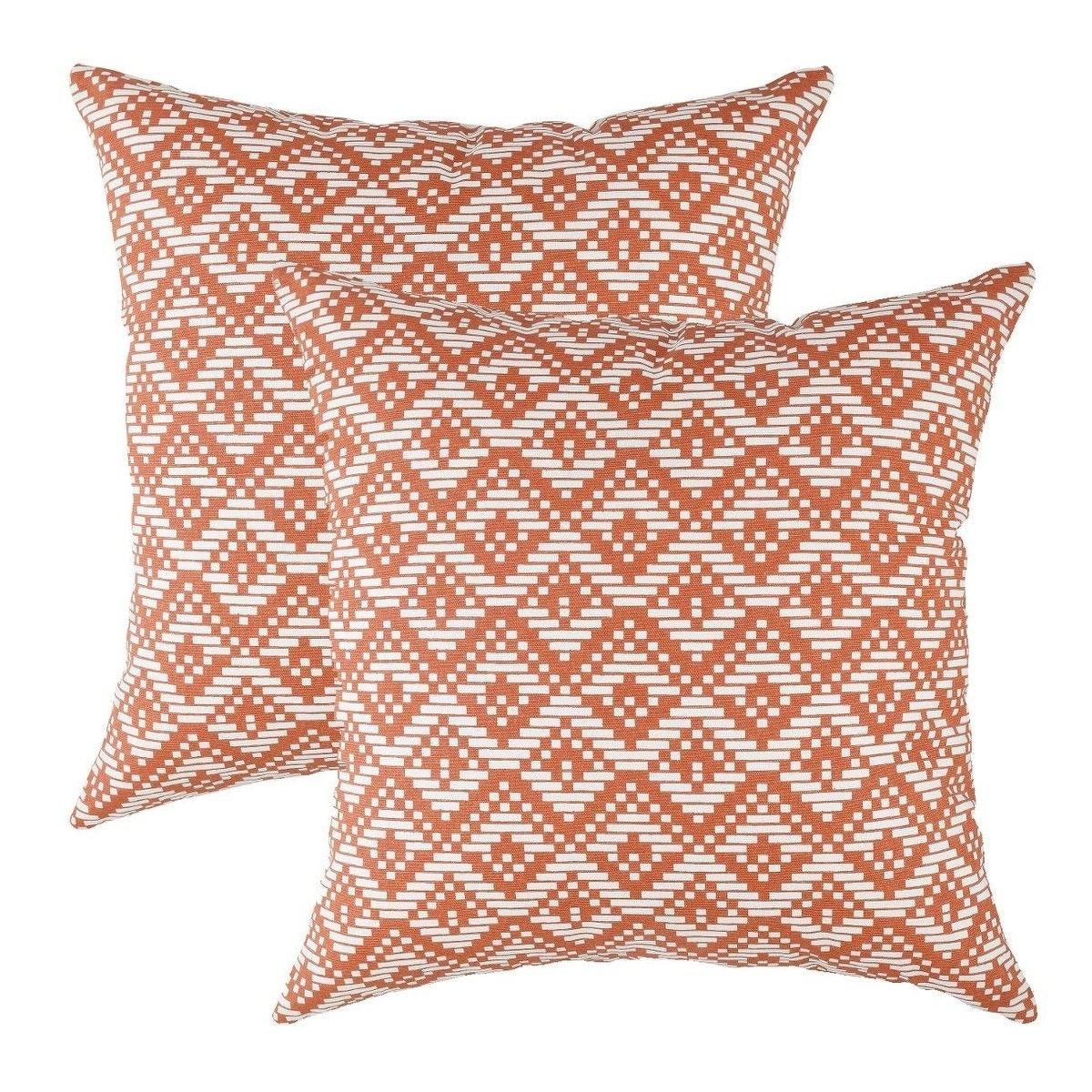 100/% Cotton Velvet Pillow Covers Shams Set of 2 Home Decor Cushion Rust