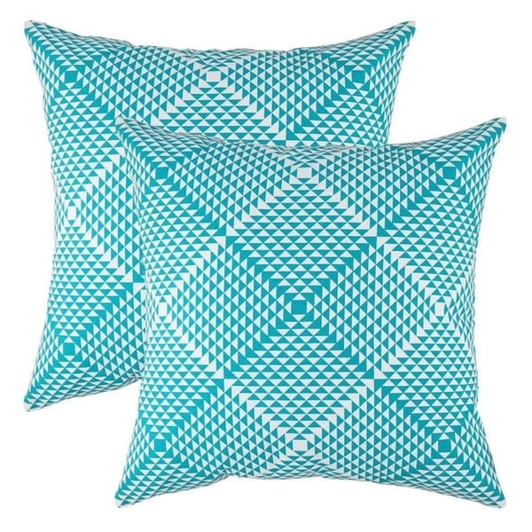 Prismatic Accent Decorative Pillowcases Turquoise