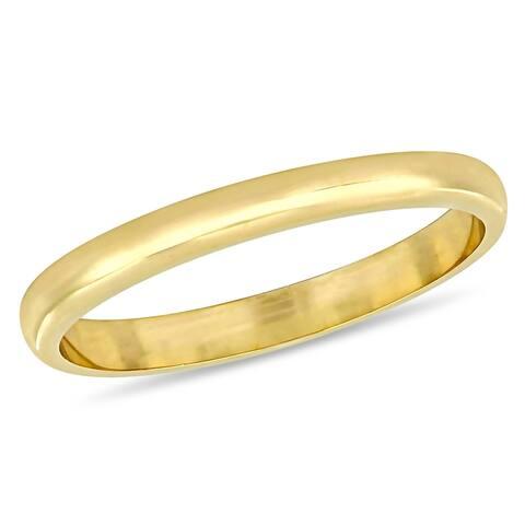 Miadora 10k Yellow Gold Ladies Wedding Band (2 mm)