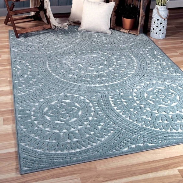 Orian Rugs Boucle Canada: Shop Orian Rugs Boucle Indoor/Outdoor Stoke Harbor Blue