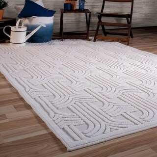 """Orian Rugs Boucle Indoor/Outdoor Grand Theatre Natural Area Rug - 7'9"""" x 1'1"""""""