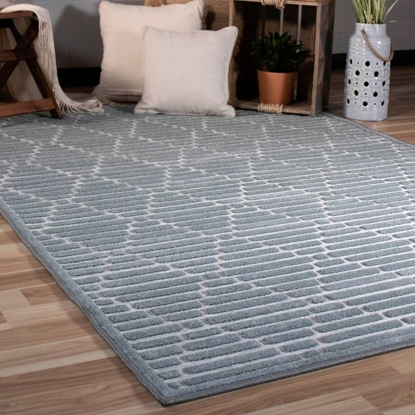 Orian Rugs Boucle Canada: Shop Orian Rugs Boucle Indoor/Outdoor Sunland Harbor Blue