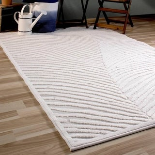 "Orian Rugs Boucle Indoor/Outdoor Urban Skin Natural Area Rug - 5'2"" x 7'6"""
