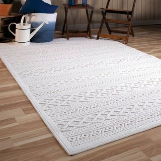 "Orian Rugs Boucle Indoor/Outdoor Jenna Natural Area Rug - 7'9"" x 10'10"""