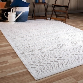 Shop Orian Rugs Boucle Indoor Outdoor Biscay Natural Area