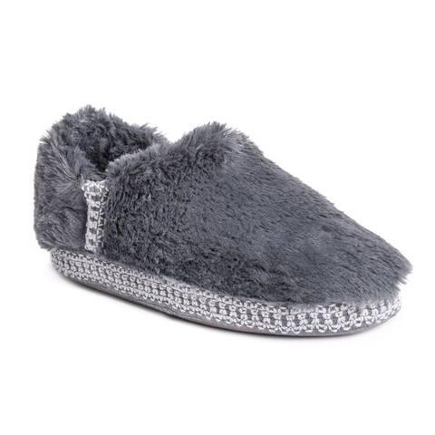 MUK LUKS Womens Joana Faux Fur Moccasin Slippers