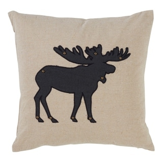 Moose Silhouette Design Down Filled Throw Pillow