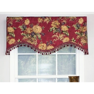 RLF Home Forte Cornice Window Valance - Red