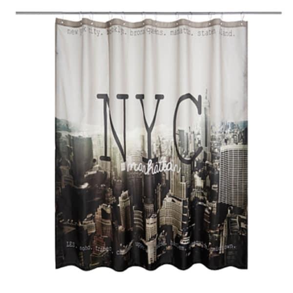 Shop Polyester Fabric Manhattan New York City Shower Curtain 70 X 72