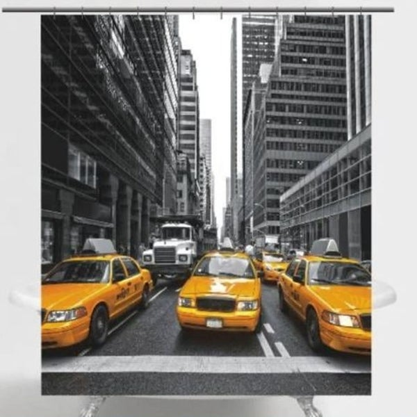 Shop Polyester Fabric New York City Taxi Shower Curtain 70 X 72