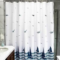 Polyester Fabric Nautical Sailing Boat Shower Curtain Hooks 72