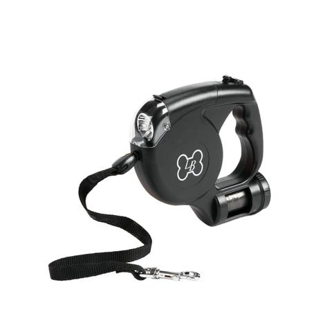 LucyBelle Pets 3-in-1 Retractable Leash With Light and Waste Bag Dispenser