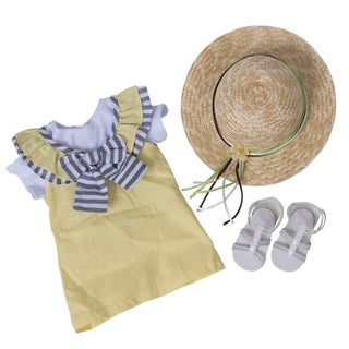 Yellow summer dress set