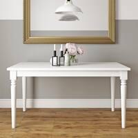 Novogratz Varick White Rectangular Dining Table