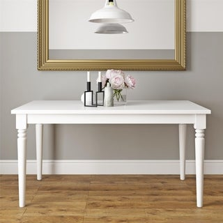 Novogratz Varick White Rectangular Dining Table