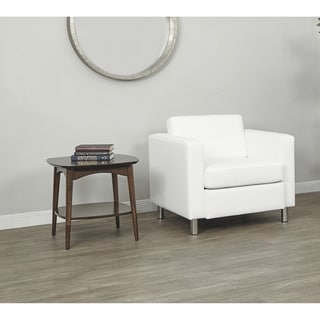 OSP Home Furnishings Pacific Club Chair with Chrome Legs