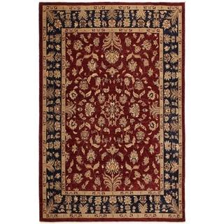 Kafkaz Peshawar Rachel Red/Blue Wool Rug (9'4 x 11'6) - 9 ft. 4 in. x 11 ft. 6 in.