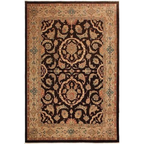 Kafkaz Sun-Faded Lillian Dark Brown/Tan Wool Rug (8'11 x 11'9) - 8 ft. 11 in. x 11 ft. 9 in.
