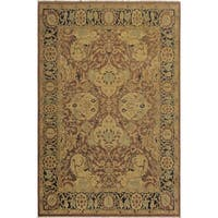 Kafkaz Sun-Faded Joetta Brown/Blue Wool Rug (8'11 x 12'2) - 8 ft. 11 in. x 12 ft. 2 in.