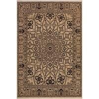 Kafkaz Peshawar Lieselot Black/Ivory Wool Rug (8'1 x 10'2) - 8 ft. 1 in. x 10 ft. 2 in.