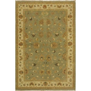 Kafkaz Peshawar Erin Gray/Ivory Wool Rug (3'11 x 6'0) - 3 ft. 11 in. x 6 ft. 0 in.