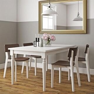 Novogratz Varick White Rectangular 5-Piece Dining Set
