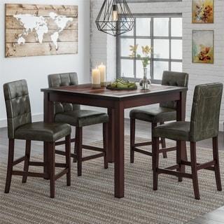 Gracewood Hollow Betancourt Espresso 5-piece Counter-height Dining Set