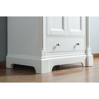Alya Bath Olivia Grey Wood and Carrara Marble 30-inch Single Bathroom Vanity