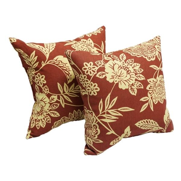 Shop Fairmont Sangria 17 Inch Indoor Outdoor Throw Pillow