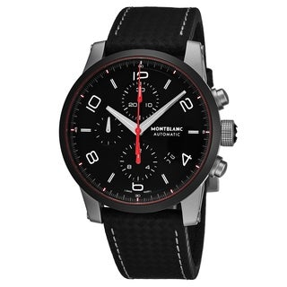 Mont Blanc Men's 112604 'Timewalker' Black Dial Black Extreme Strap Chronograph Swiss Automatic Watch