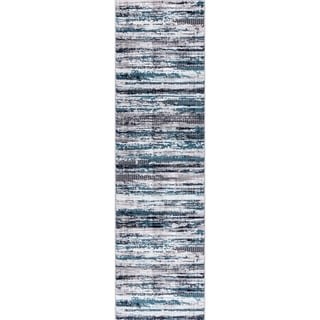 GAD Vanguard Collection Dream Blue Gray Transitional Area Rug