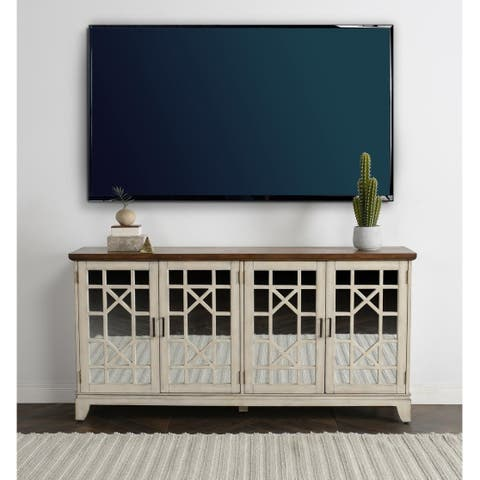 Jenna Two-tone Mirrored Sideboard by Kosas Home