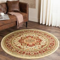 "Safavieh Lyndhurst Traditional Oriental Ivory/ Red Area Rug - 5'3"" x 5'3"" round"