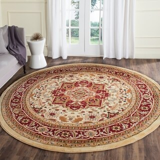 Safavieh Lyndhurst Traditional Oriental Ivory/ Red Area Rug (8' Round)