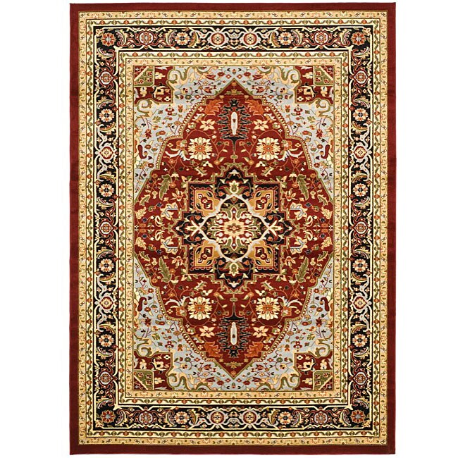 Safavieh Lyndhurst Traditional Oriental Red/ Black Rug (8' x 11')