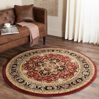 "Safavieh Lyndhurst Traditional Oriental Red/ Black Area Rug - 5'3"" x 5'3"" round"