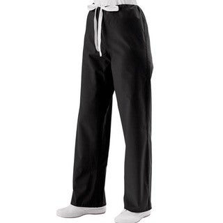 Medline Unisex Black Drawstring Scrub Pants