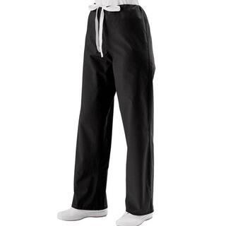 Medline Unisex Black Drawstring Scrub Pants