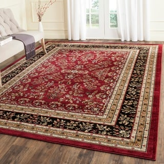 Safavieh Lyndhurst Traditional Oriental Red/ Black Rug (8' x 11')