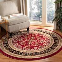 """Safavieh Lyndhurst Traditional Oriental Red/ Black Rug - 5'3"""" x 5'3"""" round"""