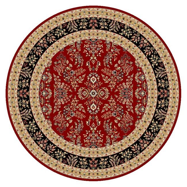 Safavieh Lyndhurst Traditional Oriental Red/ Black Rug (8' Round)