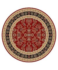 Safavieh Lyndhurst Traditional Oriental Red/ Black Rug (8' Round)