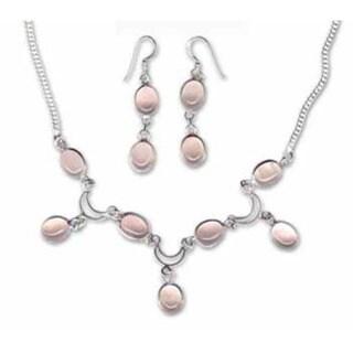 Handmade Rose Quartz Necklace and Earring Set (India)